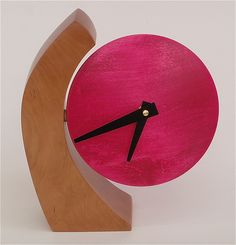 Adjustable Desk Clock I: Todd Bradlee: Wood Clock | Artful Home