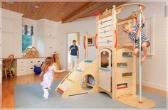 i love the look and pastel colors of cedarworks playsets. too bad they are uber-expensive.