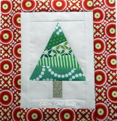 Feeling a little Christmasy?   Well today I have my Christmas tree block tutorial to share with you for the 12 Days of Christmas Sampler Qui...