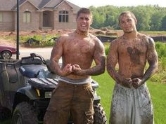 muscles, mud, and four wheelers.