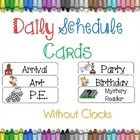 Organize your day for you and your students!*Easy readable font {cute too!}*Cute clipart to match each activity*Print, cut, laminate and yo...