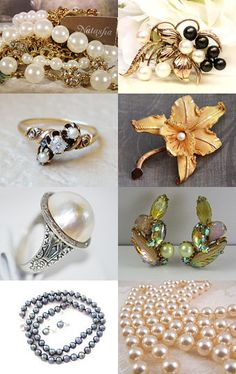 Pearls For Girls VJTSOTW Honoring CarolsVintageJewelry by Marirose on Etsy--Pinned with TreasuryPin.com