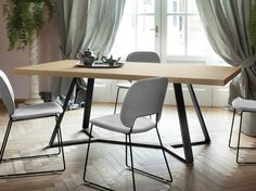 Rectangular table ARCHIE-L200 by DOMITALIA design Alberto Werner Arter
