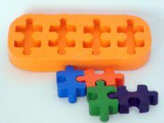 Molde de Silicone Quebra Cabeça 4 cavidades- Arte de Modelar