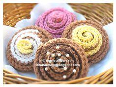 Virkade muffins gratis mönster