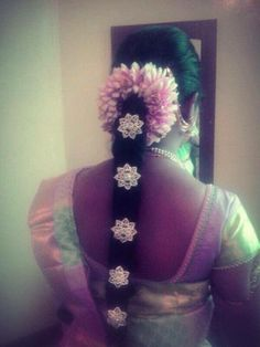 Traditional South Indian bride's bridal braid hair. Hairstyle by Swank Studio. Find us at https://www.facebook.com/SwankStudioBangalore
