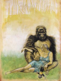 """Gorilla Girl"" by Roger Gordon. Lounging around."