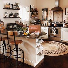 The History of Home Interior Design Kitchen Jar Organisation Refuted - gameofthron Deco Studio, Boho Kitchen, Kitchen Black, Earthy Kitchen, Open Kitchen, Design Kitchen, Kitchen Decor, Home And Deco, House Rooms
