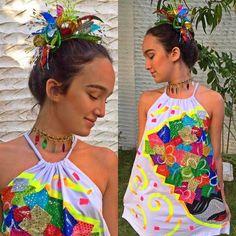 Resultado de imagen para camisetas de carnaval pintadas a mano 2015 Party, Photography, Clothes, Dresses, Ideas, Fashion, Diy Shirt, Craft, Girls Dresses