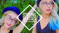 8 Looks ♥ How to Style Glasses for All Occasions ♥ Wengie Glasses by GlassesUSA.com  Featured frames:  Amelia E. Perdita Amelia E. Jules Genius Stepper Elliot Muse M8590 Muse M6644