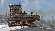 artwork military post-apocalyptic rust science fiction snow Winter Pictures and Images Diesel Punk, Mad Max, Image Digital, Digital Art, Science Fiction Art, To Infinity And Beyond, Sci Fi Fantasy, Sci Fi Art, Skyrim