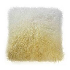 Moe's Home Collection Lamb Fur Pillow Yellow By (275 CAD) ❤ liked on Polyvore featuring home, home decor, throw pillows, yellow accent pillows, yellow toss pillows, contemporary home decor, yellow home accessories and moe's home collection