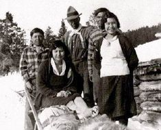 Group at Paddy's Lake, Telegraph Creek, c. Grizzly Bear Habitat, Salmon Run, Historical Images, First Nations, British Columbia, Environment, Photos, Pictures, Culture