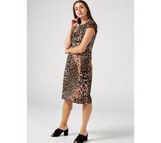 Ronni Nicole Short Sleeve Animal Print Dress - 179362 Qvc Uk, Ronni Nicole, Just Shop, Animal Print Dresses, Dresses For Work, Sleeves, Shopping, Fashion, Moda