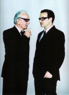 Bono and his father.