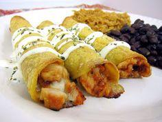 Plain Chicken: Chipotle BBQ Chicken Taquitos