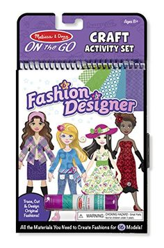 Melissa Doug On The Go Craft Activity Set Fashion Designer 8 Model Sheets Check Out