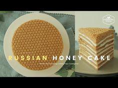 Russian Honey Cake(Medovik) Recipe by Cookingtree Russian Honey Cake, Russian Cakes, Fruit Recipes, Baking Recipes, Cake Recipes, Asian Desserts, Sweet Desserts, Medovik Cake Recipe, Russian Pastries