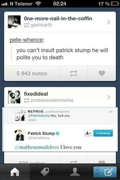 Can't insult Patrick Stump