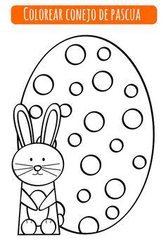 Conejo de Pascua / Easter Bunny http://dibujos-para-colorear.euroresidentes.com/2013/03/colorear-conejo-de-pascua.html