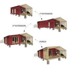 Expandable House Plans - Small Homes, Cabins, Pin-Up Houses
