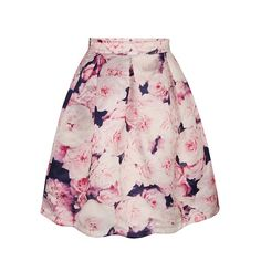 Pink Floral Print Tie Dye A-Line Midi Skirt stylish & affordable women's clothing and fashion for any wardrobe. Discover the perfect boutique styles in maxi dresses, denim, # Floral Print Skirt, Floral Prints, Rose Prints, Floral Rosa, Floral Tie, Pink Pleated Skirt, Midi Flare Skirt, Skater Skirt, Calf Length Skirts