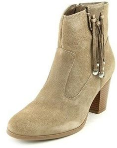 Bar III Jangle Women Round Toe Suede Brown Ankle Boot.