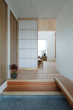 Ritto House is a minimalist house located in Shiga, Japan, designed by Alts Design Office. The residence, although not large, is designed to be spacious and comfortable. The one-story home features a wooden interior and sloped ceilings. The ceilings sit on a row of windows, which allow for a significant amount of natural lighting to enter the space. (1)