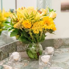 Yellow Mountain Bouquet (Growers Choice)- 10 Bouquets, 150 Stems