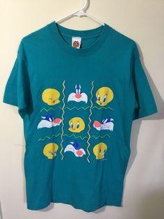 76c7e48677b Vtg 97 Looney Tunes Warner Brothers FREEZE T-shirt Tweety Sylvesta  fashion   clothing  shoes  accessories  vintage  mensvintageclothing (ebay link)