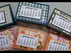 Epis 120 Stampin Up! 2019 Desk Calendar Craft Fair Ideas Stamping with DonnaG! Desk Calender, Diy Calendar, Home Deco, Craft Desk, Diy Desk, Christmas Craft Fair, Christmas Ideas, Post It Note Holders, Diy Inspiration