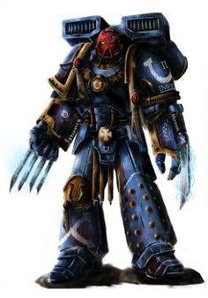 Ultra marine sergeant company by on DeviantArt Warhammer 40k Art, Warhammer Fantasy, Ultramarines, Tyranids, Space Wolves, Swords And Daggers, Angel Of Death, Space Marine, Pop Culture