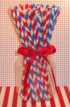 Patriotic Red and White  Blue and White by sweettreatssupplies, $4.25