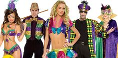 Mardi Gras costumes -- perfect for this Halloween!
