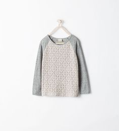 Image 1 of COMBINED LACE T-SHIRT from Zara