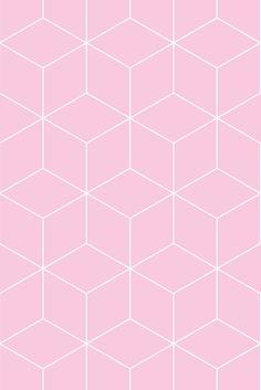 Wallpaper Hexagonal extra pink
