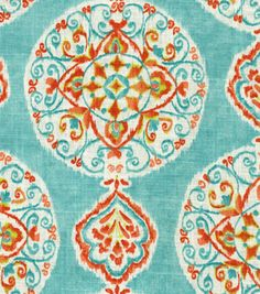 valence living room Home Decor Print Fabric-Dena Mirage Medallion Capri