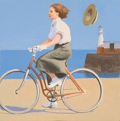 """Girl On A Bicycle"" by Alan kingsbury"