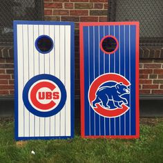 https://flic.kr/p/wgiedv | Chicago Cubs bag set | 80's logo, and the Cubs current logo cornhole boards