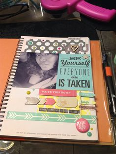 scrapbooking page to #smashbook #layouts #words