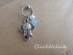 Elephant Captive Bead Hoop; Cartilage Earring; Helix Earring; on Etsy, $5.99