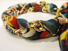 Bettyjoy tutorials: Primark re-hash bracelet tutorial using bracelets and scarves.
