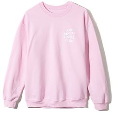 Know you better Crewneck (545 NOK) ❤ liked on Polyvore featuring tops, crew neck tops, pink sweater, loose tops, light pink sweater and light pink top