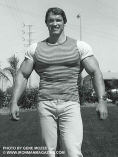 Bodybuilding legend, actor and politician, Arnold Schwarzenegger