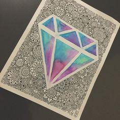 Shine Bright like a Diamond @danielahoyos #likeadiamond #Zentangle #art #artist #colors #mandalas #mandala #mandalatatto #loveart #acuarelas #zen #Zentangleconmigo #zentangleart #zentanglecondani