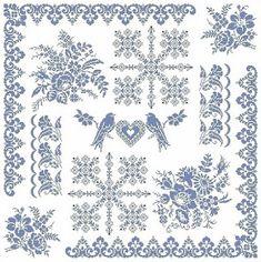Cross Stitch Samplers, Cross Stitch Charts, Cross Stitch Embroidery, Hand Embroidery, Cross Stitch Patterns, Crochet Art, Filet Crochet, Border Embroidery Designs, Cross Stitch Angels