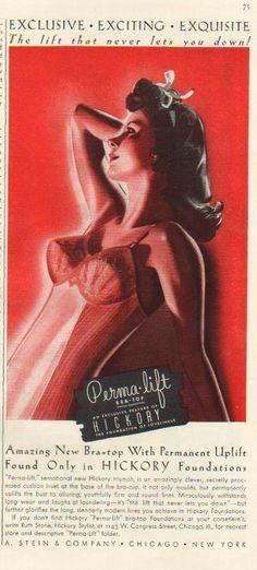 1941 A Stein Company Chicago IL Hickory Bra Top Vintage Girdle Sexy Print Ad |