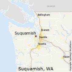 Suquamish,Washington Map