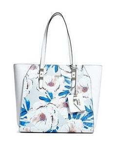 76a79bed4b Guess Floral Gia Tote Guess Handbags