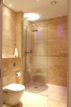 OPEN SHOWER/NO DOOR --Love the Interior Design and Told Color scheme~ Aquaproof Wetroom System